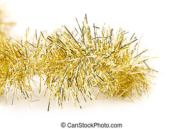Tinsel. Christmas decoration. Isolated on a white...
