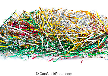 tinsel isolated on a white background