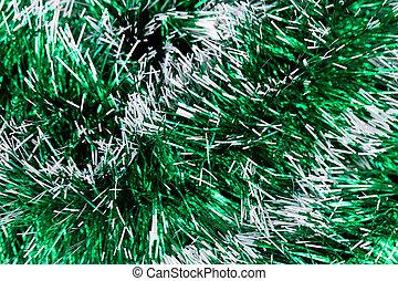 tinsel., vert, noël