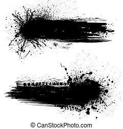 tinta, blots, bandeiras