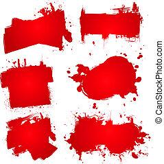 tinta, splat, sangre
