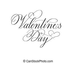 tinta, valentine, clásico, retro, día, diseño, romántico