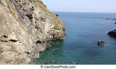 Tintagel bay North Cornwall England