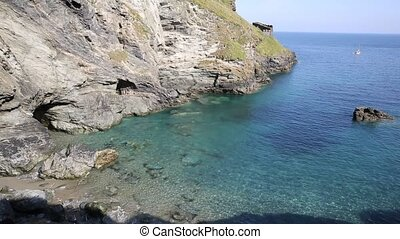 Tintagel beach and bay Cornwall uk - Tintagel beach and bay...