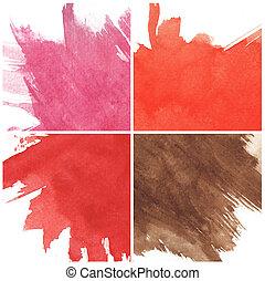 tintas, textura, aquarela, papel, áspero