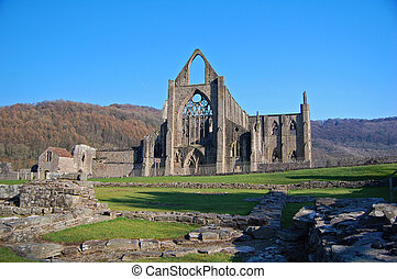 tintern abbey - a view of tintern abbey in monmouthshire