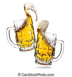 tintinee, cervezas, anteojos