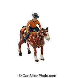 tintoy, αγελαδάρης , επάνω , ένα , άλογο