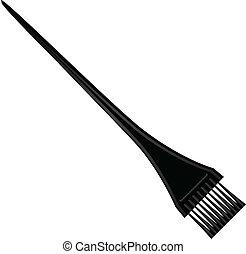 tinturapara el cabello, cepillo