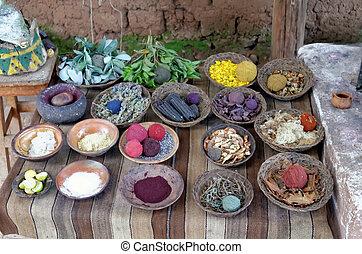 tinturas, lana, natural