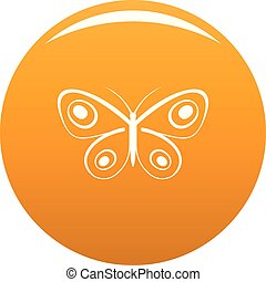Tiny butterfly icon vector orange