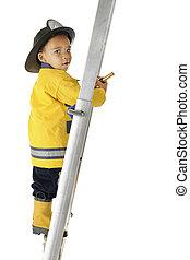 Tiny Fireman, Big Ladder