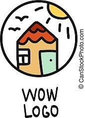 Tiny house colorful logo
