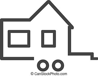 Tiny house. Icon for logo. Vector illustration