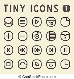 Tiny Line Icons Set 1 - Tiny Line Icons for web and mobile...