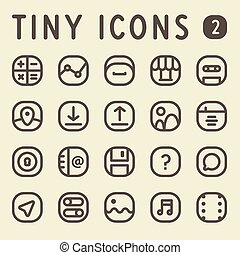 Tiny Line Icons Set 2