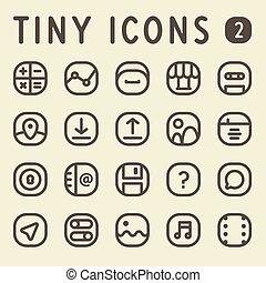 Tiny Line Icons Set 2
