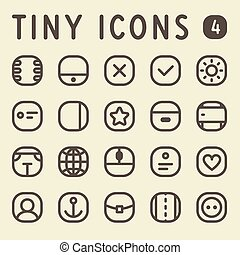 Tiny Line Icons Set 4 - Tiny Line Icons for web and mobile...