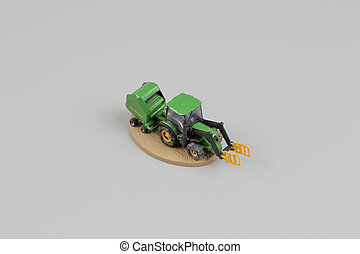 tiny of fun modell of Agricultural machinery.
