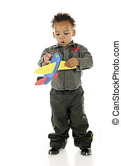Tiny Pilot Impressed with Plane - An adorable preschooler ...