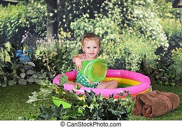 Tiny Tot in Tiny Pool