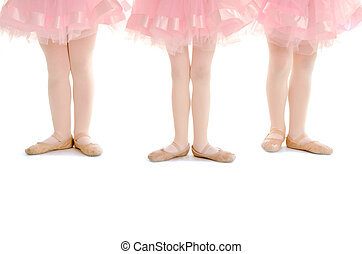 Tiny Tots Ballet Legs in Pink Tutu - Three Preschool Tiny...