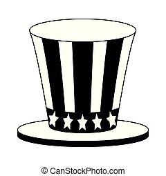 tio, branca, pretas, sam, chapéu