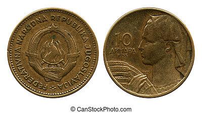 tio, dinar, fpr, jugoslavien, 1955