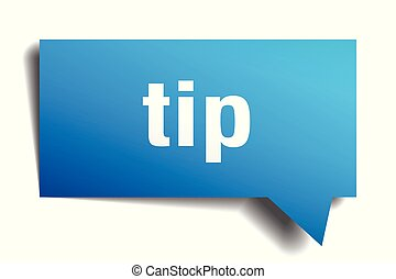 tip blue 3d speech bubble