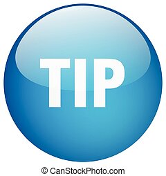 tip blue round gel isolated push button