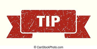 tip grunge ribbon. tip sign. tip banner