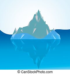 tip of the iceberg above the water