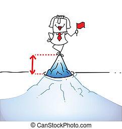 Tip of the iceberg - Karen is on tip of the iceberg. It's a...