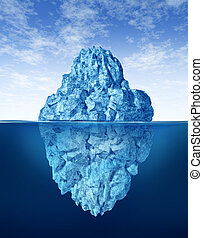 Tip Of The Iceberg - Iceberg floating in cold arctic ocean...
