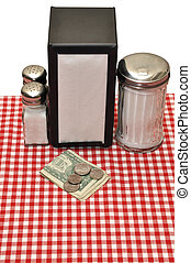 Tip on Table at Restaurant - Tip on table at restaurant. ...