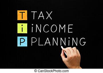 TIP - Tax Income Planning On Blackboard