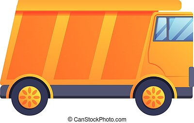 Tip truck icon, cartoon style - Tip truck icon. Cartoon of ...