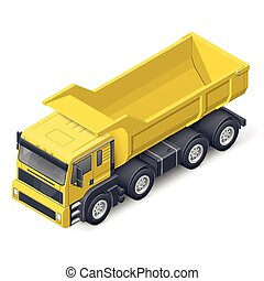 Tip truck isometric detailed icon vector graphic ...