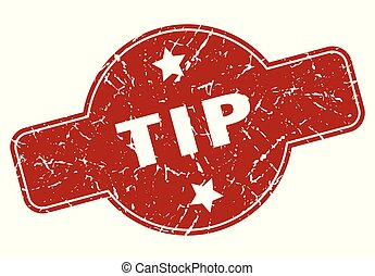tip vintage stamp. tip sign