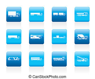 tipi, differente, camion, camion
