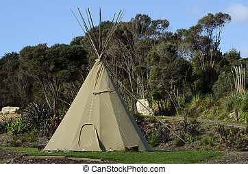 A Tipi (teepee or tepee) a traditional housing for Native Americans Indians in Great Plains and other Western states.