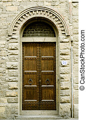 Tipical entrance of a house in tuscany