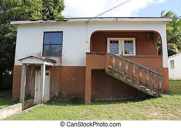 tipico, casa, antigua, barbuda