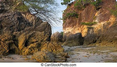 tipico, paesaggio, di, uno, isola tropicale