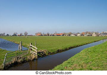 tipico, paesaggio, olandese