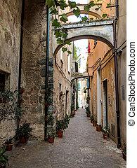 tipico, stretta, italiano, strada