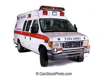 tipo, 2, furgão, ambulância