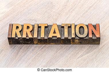 tipo, abstratos, madeira, palavra, irritação