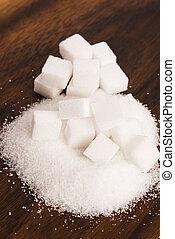 tipo, difrent, açúcar