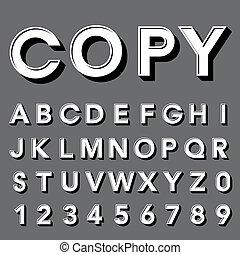tipo, fonte, retro, vindima, tipografia